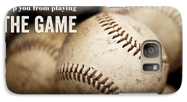 Baseball Art Featuring Babe Ruth Quotation Galaxy S7 Case by Lisa Russo