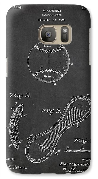 Softball Galaxy S7 Case - Baseball Cover Patent Drawing From 1923 by Aged Pixel