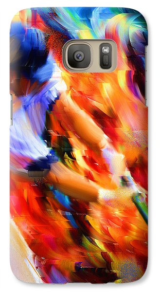 Baseball Bats Galaxy S7 Case - Baseball IIi by Lourry Legarde