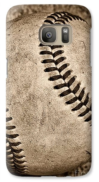 Baseball Old And Worn Galaxy S7 Case