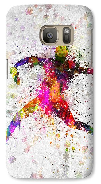 Softball Galaxy S7 Case - Baseball Player - Pitcher by Aged Pixel