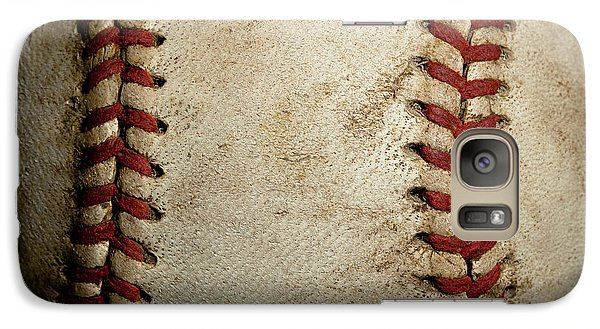 Baseball Seams Galaxy S7 Case by David Patterson