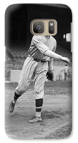 Baseball Star Walter Johnson Galaxy S7 Case