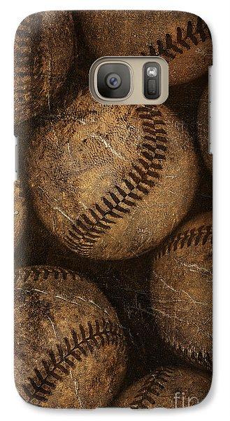 Baseballs Galaxy S7 Case by Diane Diederich
