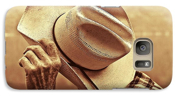 Galaxy Case featuring the photograph Bashful by Sandi Mikuse