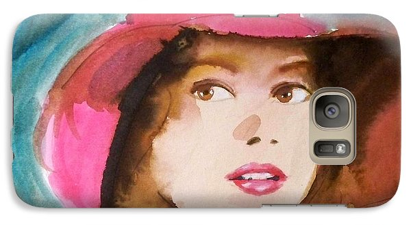 Galaxy Case featuring the painting Basia by Ed  Heaton