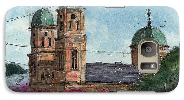 Galaxy Case featuring the painting Basillica Of The Immaculate Conception In Natchitoches by Tim Oliver