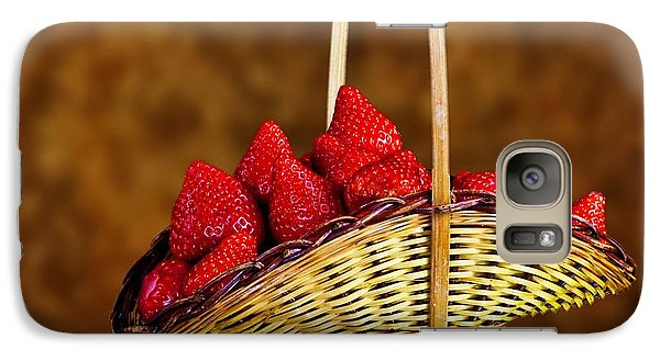 Galaxy Case featuring the photograph Basket Full Of Strawberries by Shirley Mangini