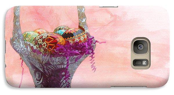 Galaxy Case featuring the digital art Basket Of Joy by Kathleen Holley
