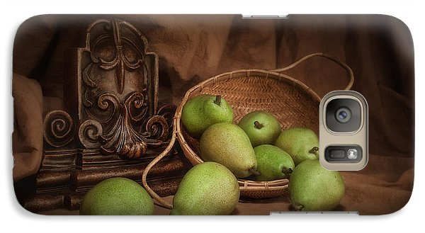 Basket Of Pears Still Life Galaxy S7 Case by Tom Mc Nemar
