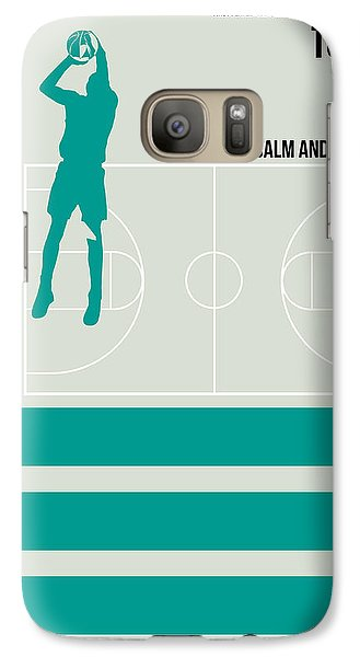 Basketball Poster Galaxy Case by Naxart Studio