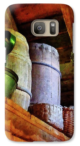 Galaxy Case featuring the photograph Baskets And Barrels In Attic by Susan Savad