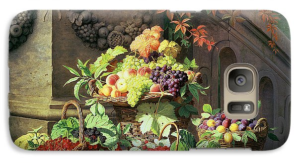 Baskets Of Summer Fruits Galaxy S7 Case by William Hammer