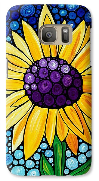 Sunflower Galaxy S7 Case - Basking In The Glory by Sharon Cummings