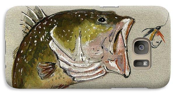 Smallmouth Bass Galaxy S7 Case - Bass Fish Fly by Juan  Bosco