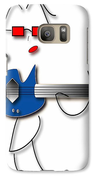 Bass Guitar Girl Galaxy S7 Case by Marvin Blaine