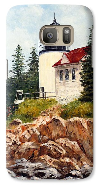 Galaxy Case featuring the painting Bass Harbor Head Light by Lee Piper