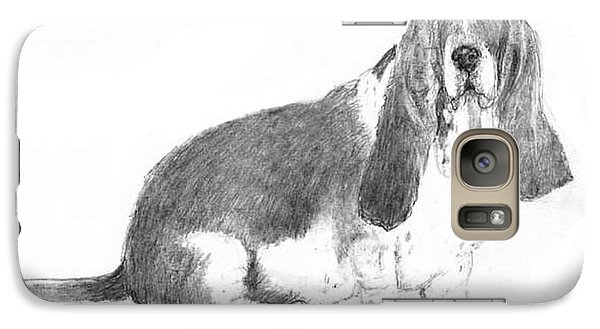 Galaxy Case featuring the drawing Basset Hound by Jim Hubbard