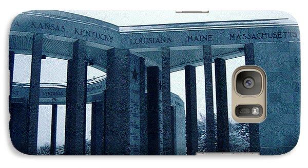 Galaxy Case featuring the photograph Bastogne Liberation Memorial by Deborah Smolinske