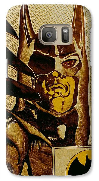 Galaxy Case featuring the mixed media Bat Man by Dan Wagner