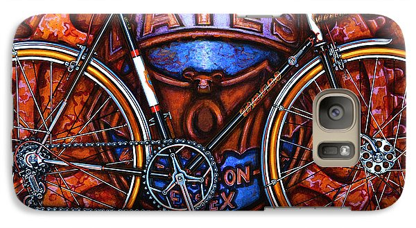 Galaxy Case featuring the painting Bates Bicycle by Mark Howard Jones
