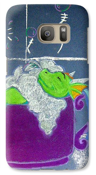 Galaxy Case featuring the pastel Bath Time by Wendy Coulson