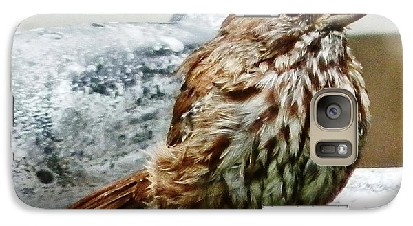 Galaxy Case featuring the photograph Bathe Then Fluff by VLee Watson
