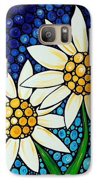 Daisy Galaxy S7 Case - Bathing Beauties - Daisy Art By Sharon Cummings by Sharon Cummings