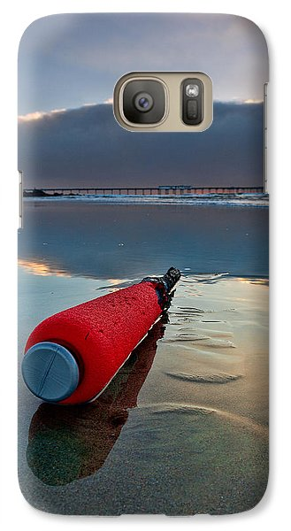 Batter-ed By The Sea Galaxy S7 Case by Peter Tellone