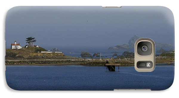 Galaxy Case featuring the photograph Battery Point Lighthouse And Castle Rock by Betty Depee