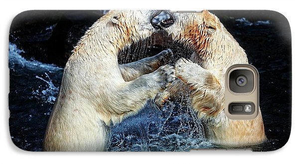 Bear Galaxy S7 Case - Battle & Kisses .... by Antje Wenner-braun