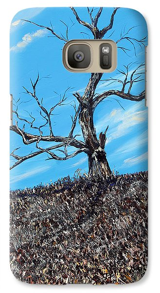 Galaxy Case featuring the painting Battle Scars by Meaghan Troup