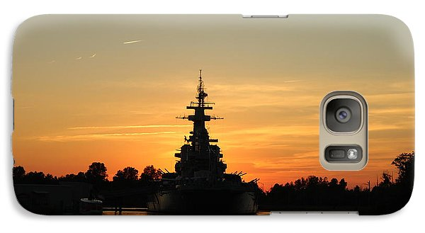 Galaxy Case featuring the photograph Battleship At Sunset by Cynthia Guinn