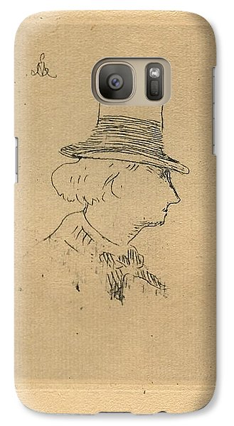 Galaxy Case featuring the digital art Baudelaire In Top Hat by Asok Mukhopadhyay
