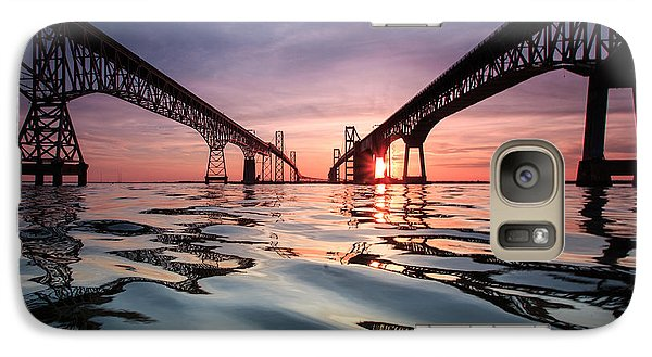 Galaxy Case featuring the photograph Bay Bridge Reflections by Jennifer Casey