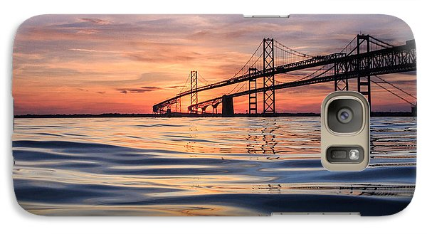 Galaxy Case featuring the photograph Bay Bridge Silk by Jennifer Casey