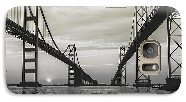 Galaxy Case featuring the photograph Bay Bridge Strong by Jennifer Casey