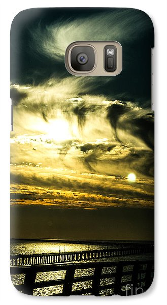 Galaxy Case featuring the photograph Bay Bridge Sunset by Angela DeFrias