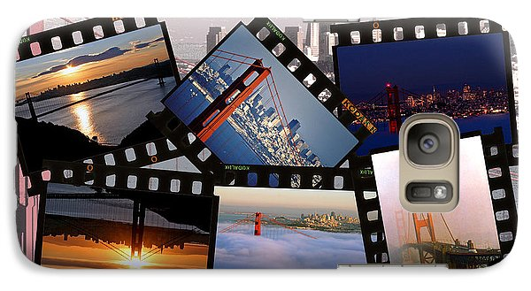 Galaxy Case featuring the photograph Golden Gate Collage by Christopher McKenzie
