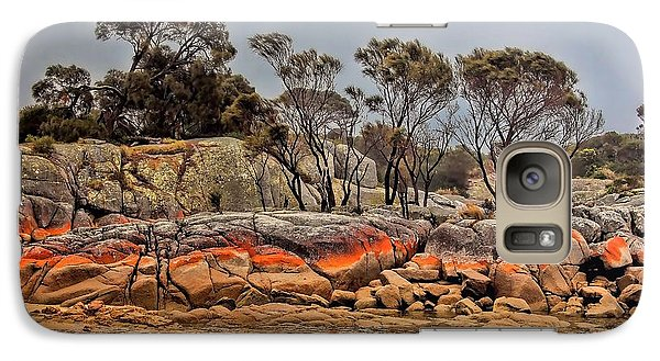 Galaxy Case featuring the photograph Bay Of Fires 2 by Wallaroo Images