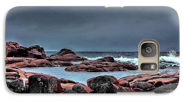 Galaxy Case featuring the photograph Bay Of Fires 3 by Wallaroo Images