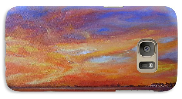 Bay Of Hythe On Fire Galaxy S7 Case