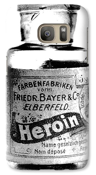 Galaxy Case featuring the photograph Bayer Company Sells Heroin Around 1900 by Merton Allen