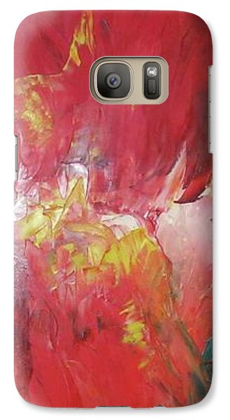 Galaxy Case featuring the painting Bayley - Exploding Star Nebuli by Carrie Maurer
