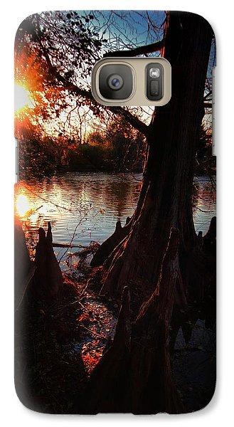 Galaxy Case featuring the photograph Bayou Sundown by Robert McCubbin