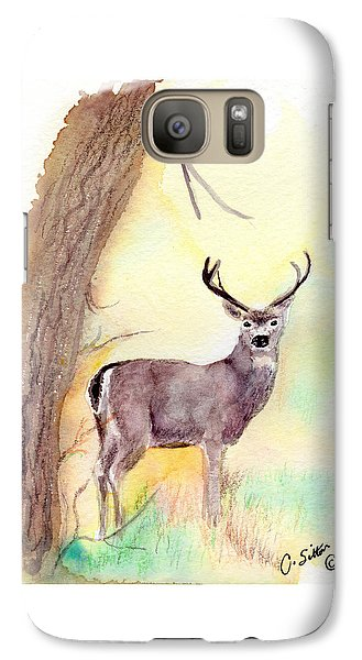 Galaxy Case featuring the painting Be A Dear by C Sitton