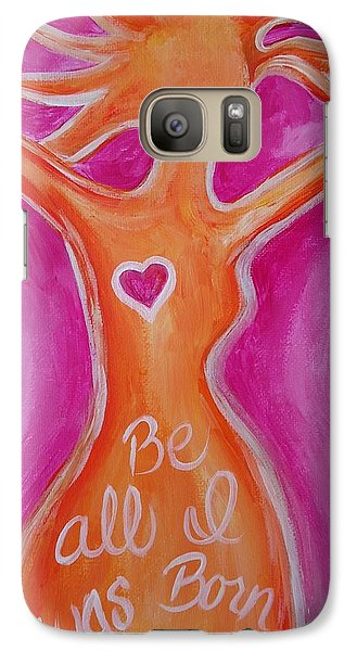 Galaxy Case featuring the painting Be All I Was Born To Be by Leslie Manley