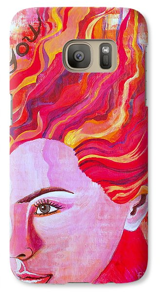 Galaxy Case featuring the painting Be Bold Be You by Julie  Hoyle