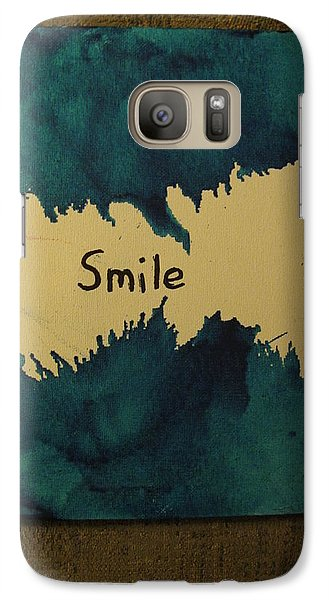 Galaxy Case featuring the painting Be Happy In A Stormy Sea by Lawrence Christopher