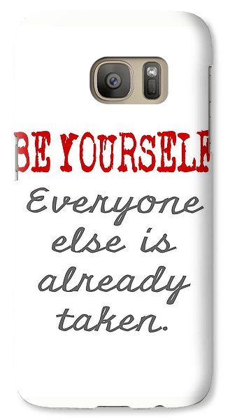 Galaxy Case featuring the painting Be Yourself Oscar Wilde Quote by Nik Helbig